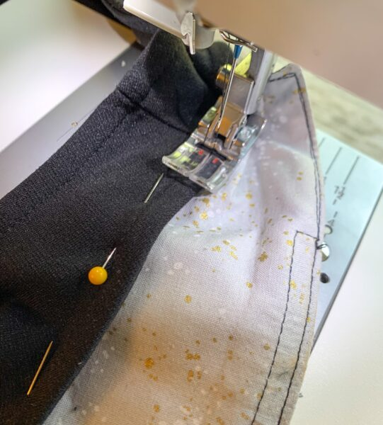 sewing collar into dress