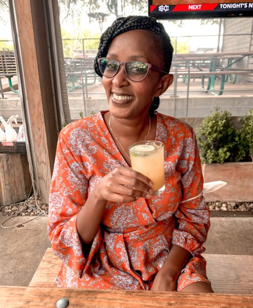 susan with beverage