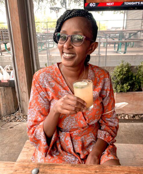 susan with beverage