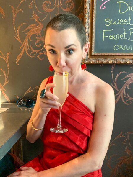 refashionista drinking french 75