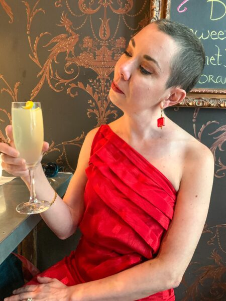 refashionista with french 75