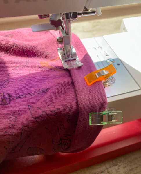 sewing T-shirt cuff