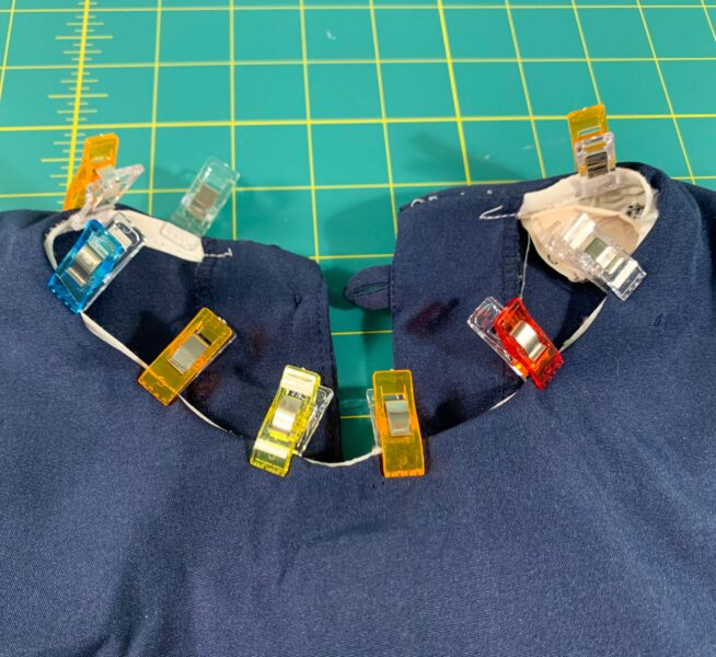 clipping collar back together