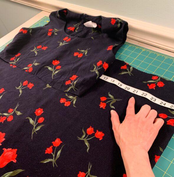 measuring bottom of dress