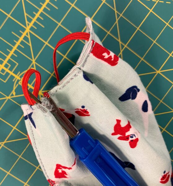 unpicking pleating with seam ripper
