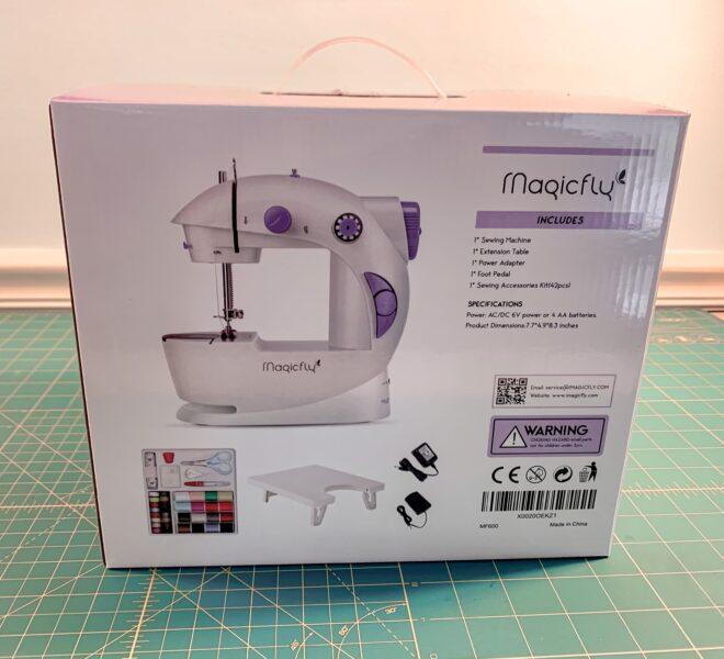 magicfly mini sewing machine in box