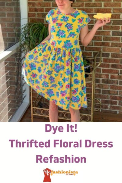 Overdyed Floral Dress Refashion pin 2