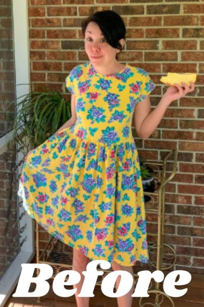 Overdyed Floral Dress Refashion pin 3