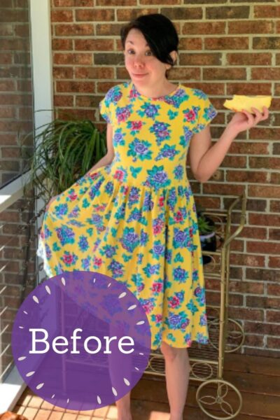 Overdyed Floral Dress Refashion pin 4