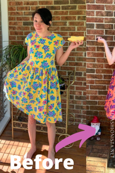 Overdyed Floral Dress Refashion pin 5
