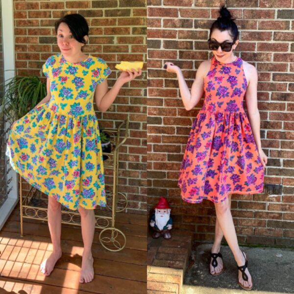 Overdyed Floral Dress Refashion pin 6