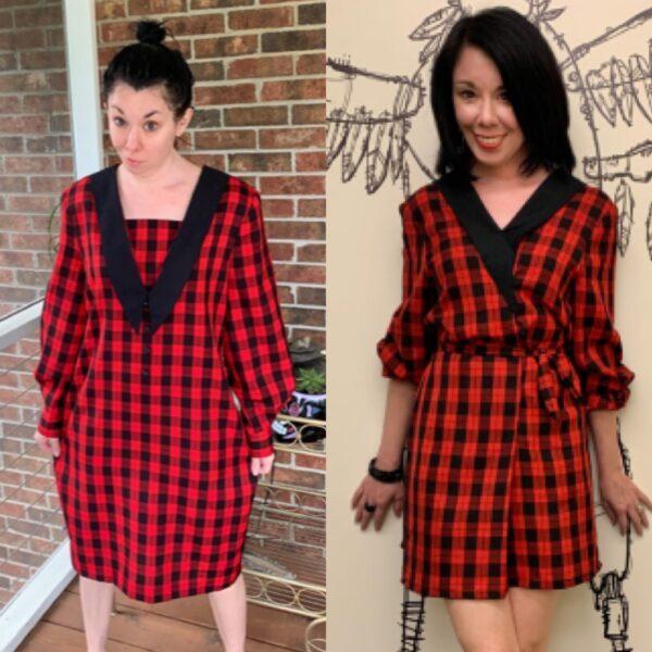 Plaid Thrift Store Dress Refashion Pin 4
