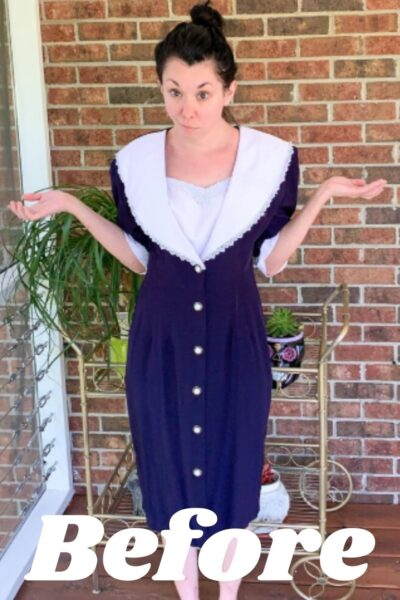 Refashioning a Collared Thrift Store Dress Pin 3