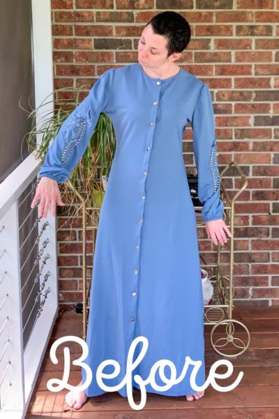 refashionista '40s Dress Refashion with Repurposed Sleeve Sash pin 1