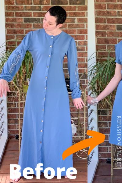 refashionista '40s Dress Refashion with Repurposed Sleeve Sash pin 2