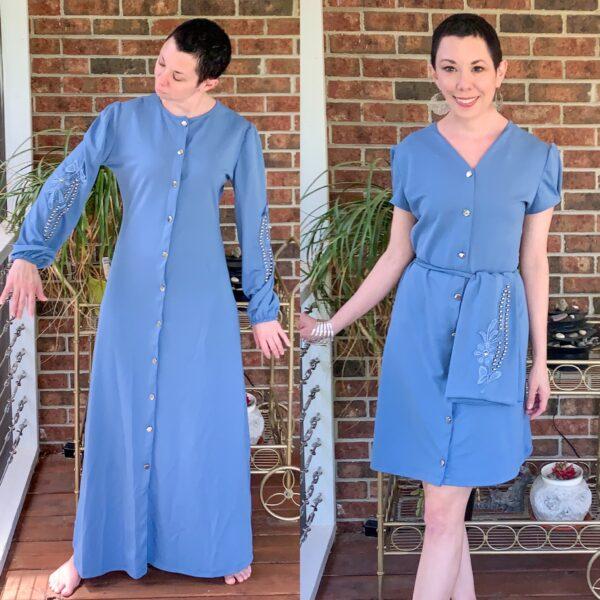refashionista '40s Dress Refashion with Repurposed Sleeve Sash pin 3