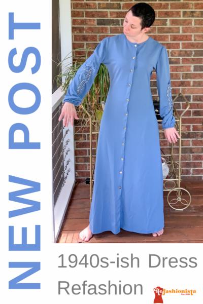 refashionista '40s Dress Refashion with Repurposed Sleeve Sash pin 4