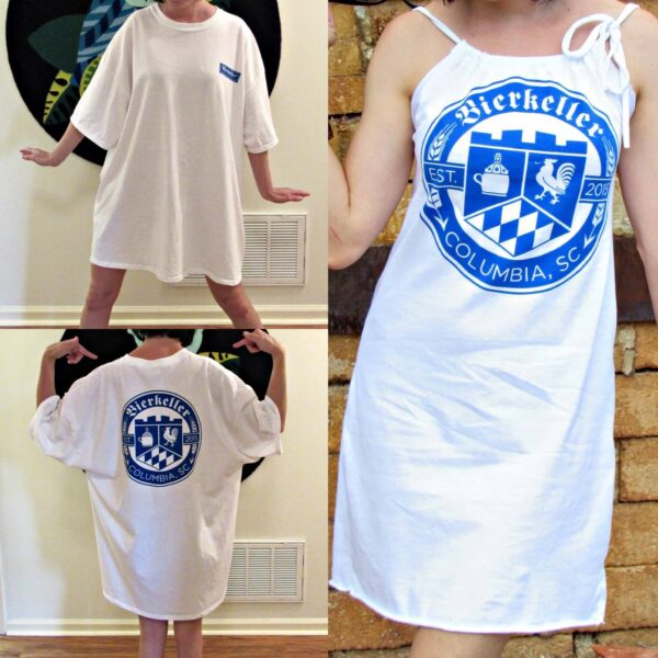 Refashionista T-shirt to Drawstring Halter Dress Refashion Pin 6