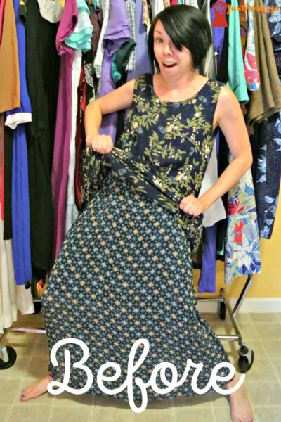 refashionista Most Secretive Maxi Dress Refashion pin 5