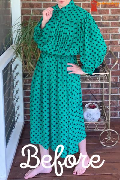 refashionista Easy Strapless Summer Dress Refashion pin 4