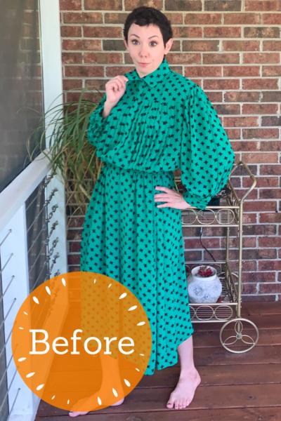 refashionista Easy Strapless Summer Dress Refashion pin 3