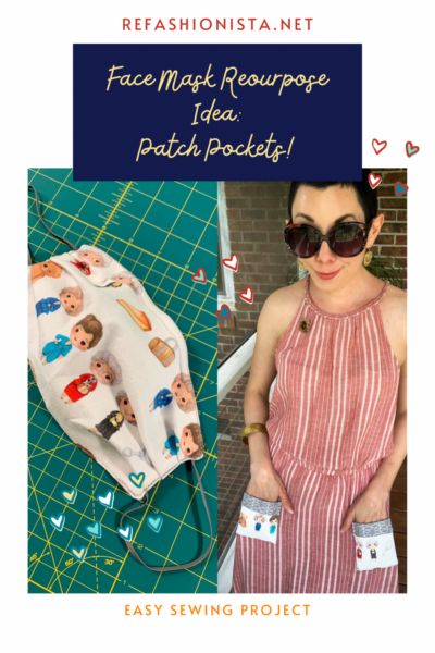 Repurposing Idea for Face Masks: Patch Pockets pin 2