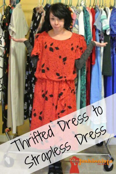 A Strapless Dress DIY & A Breakup Pin 5