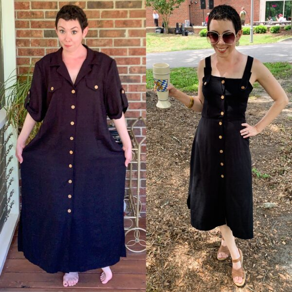 refashionista before after midi dress pin