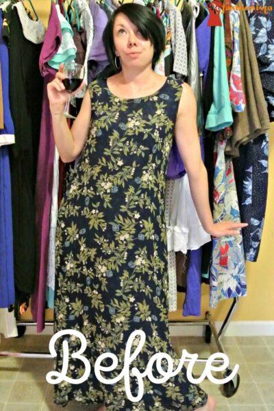 refashionista Most Secretive Maxi Dress Refashion pin 1