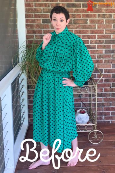 refashionista Easy Strapless Summer Dress Refashion pin 1