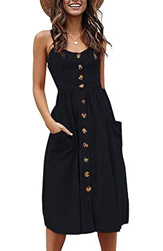 halife black midi summer dress from amazon