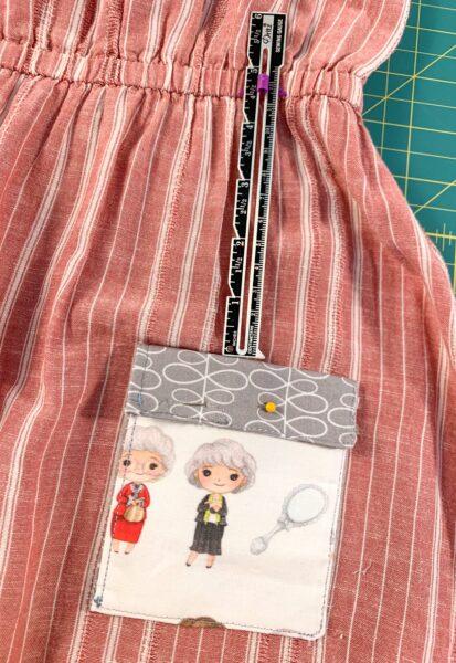 pinning pocket to dress