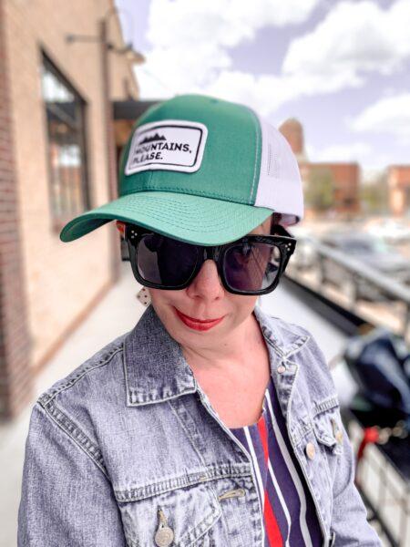 """Jillian in """"mountains please"""" hat"""