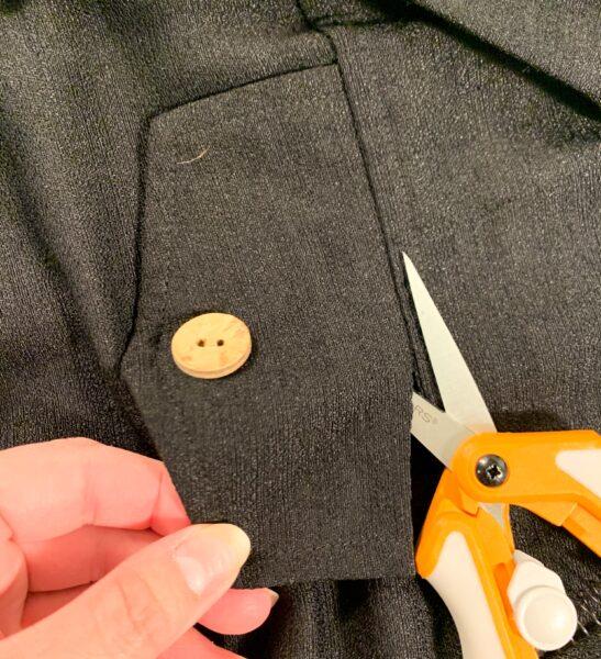 cutting off pocket flap