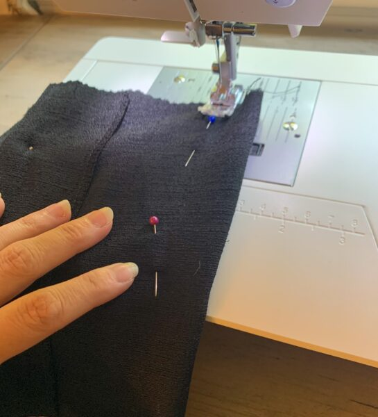 sewing front dart