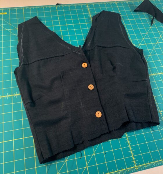 cutting out top of dress