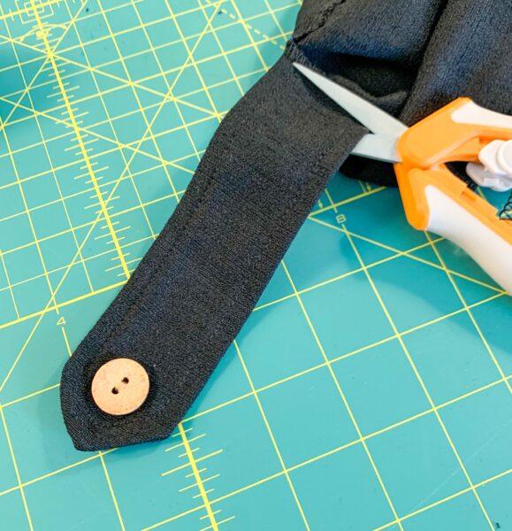 cutting off sleeve strap