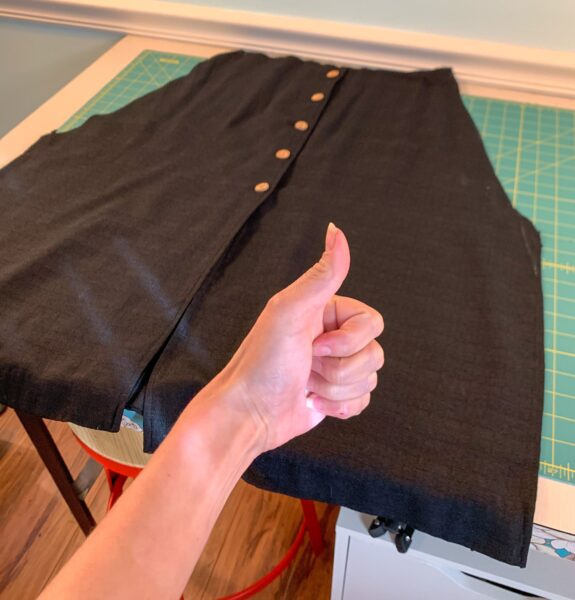 cut out skirt of dress