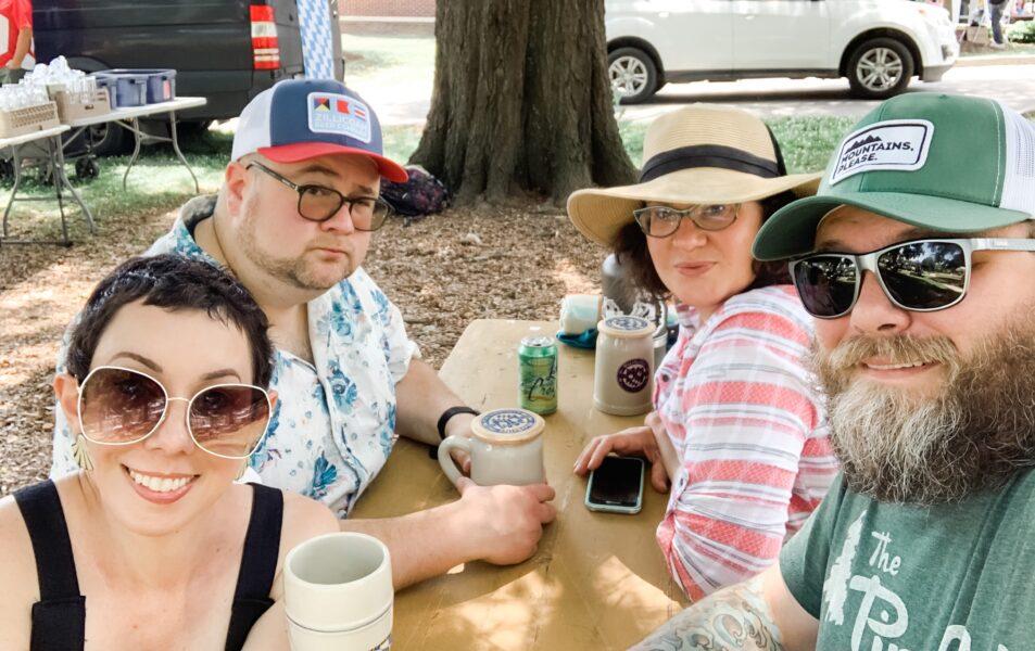 Dan, Amanda, Jillian and Brian at table