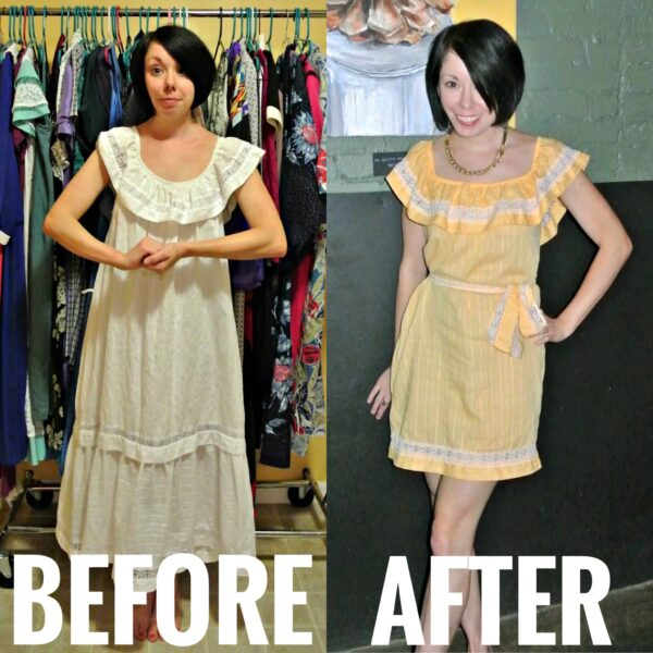 refashionista Dye It! Lemon Sherbet Dress
