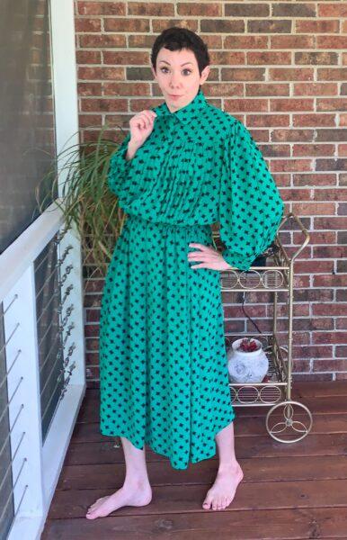 refashionista Easy Strapless Summer Dress Refashion before