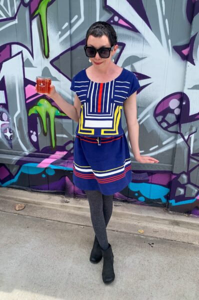 refashionista Dress to Skirt & Top Refashion after