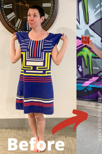 Refashionista Dress to Skirt & Top Refashion Pin 2