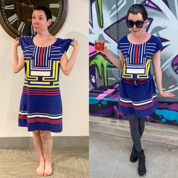 Refashionista Dress to Skirt & Top Refashion Pin 5