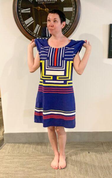 refashionista Dress to Skirt & Top Refashion: Refashionista in Denver before