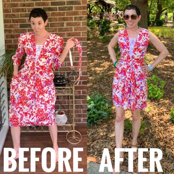 refashionista Rosé Festival Dress Refashion after