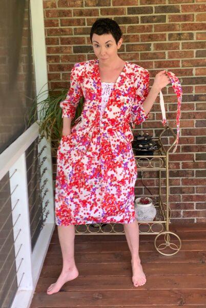 refashionista Rosé Festival Dress Refashion before