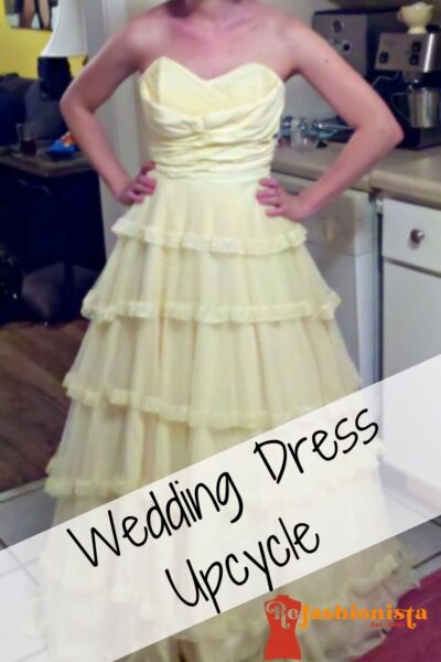 Wedding Dress Refashion Pin 5
