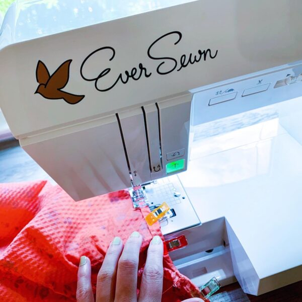 sewing armhole of dress