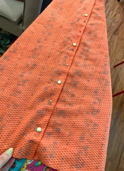 pinned front placket